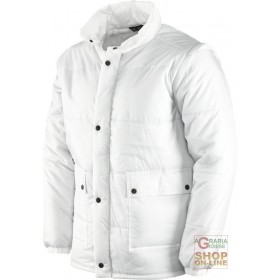 NYLON JACKET WITH DETACHABLE SLEEVES COLOR WHITE SIZE SML XL XXL