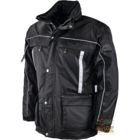 NYLON OXFORD JACKET PADDED IN POLYESTER EXTERNAL BELT WITH REFLECTIVE BAND