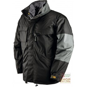 TRIPLE USE PVC POLYESTER JACKET PADDED IN DETACHABLE FLEECE COLOR BLACK TG SML XL XXL