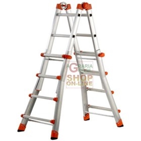 GIERRE PEPPINA EXTENDABLE TELESCOPIC LADDER SUPER EN131 KG. 150 5 + 5 STEPS