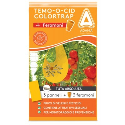 ADAMA TEMOOCID ADHESIVE TRAPS COLORTRAP YELLOW WITH FERORMONE FOR ABSOLUTA SUIT
