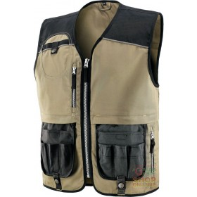 VEST 60% COTTON 40% POLYESTER REINFORCEMENTS IN POLYESTER COLOR