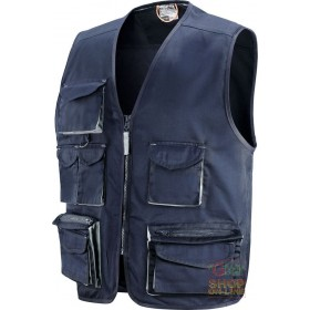 VEST 65% POLYESTER 35% COTTON MULTIPOCKETS WITH BADGE HOLDER