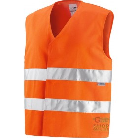 VEST 40% POLYESTER 60% COTTON GR 240 MQ CA WITH 3M BANDS ORANGE