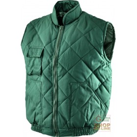 GREEN POLYESTER COTTON VEST SIZE SML XL XXL XXXL