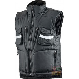 VEST IN POLYESTER PVC WITH BADGE HOLDER COLOR BLACK TG S XXL