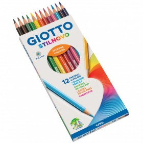 GIOTTO STILNOVO COLORED PASTELS WITH WOOD PCS. 12