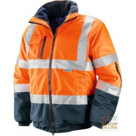 HIGH VISIBILITY JACKET IN GB TEX FABRIC WITH 3M REFLECTIVE