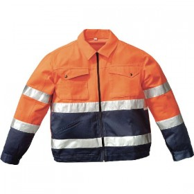 HV TOOLS ORANGE / BLUE JACKET WITH 3M REFLECTIVE BANDS TG. 46