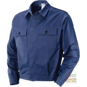 100% COTTON MOLESKIN JACKET GR 340 350 BLUE COLOR TG 46 62