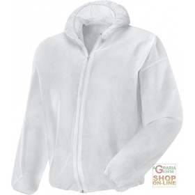 PLP JACKET GR 40 WHITE ZIP CLOSURE TG ML XL XXL
