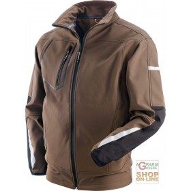 JACKET IN POLYESTER ELASTANE COLOR BROWN BLACK TG S XXL