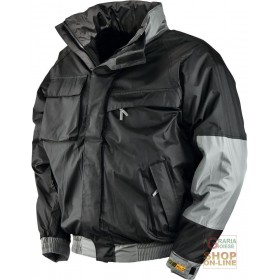 JACKET IN POLYESTER PVC PADDED IN FLEECE COLOR BLACK TG S XXL