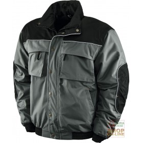 JACKET IN POLYESTER PVC INTERIOR IN FLEECE COLOR GRAY BLACK TG