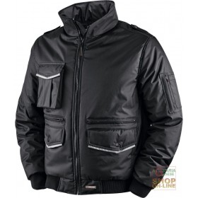 PVC POLYESTER JACKET WITH BADGE HOLDER AND HV BANDS HIDDEN HOOD
