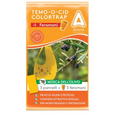 ADAMA TEMOOCID ADHESIVE TRAPS COLORTRAP PLUS WITH FERORMON FOR THE OLIVE FLY