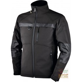 SOFTSHELL JACKET WITH ZIPPER AT THE BOTTOM WITH BADGE HOLDER