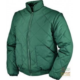 POLYESTER COTTON JACKET WITH DETACHABLE SLEEVES COLOR GREEN