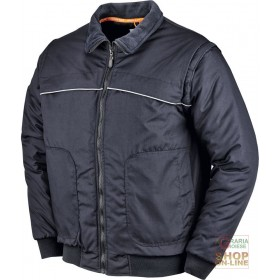 POLYESTER COTTON JACKET WITH DETACHABLE SLEEVE BADGE HOLDER