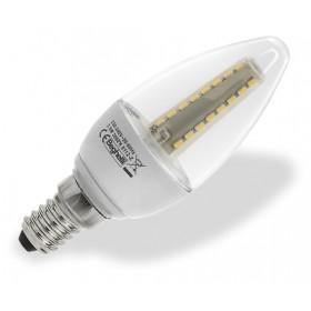 BEGHELLI LAMPADA A LED 56014 OLIVA E14 W3,5 LUCE FREDDA TRASPARENTE