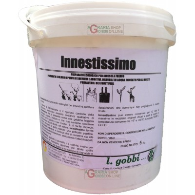 GOBBI INNESTISSIMO ECOLOGICAL PREPARATION FREE OF SOLVENTS AND ADDITIVES FOR GRAFTING FRUIT TREES IN SPRING KG. 5