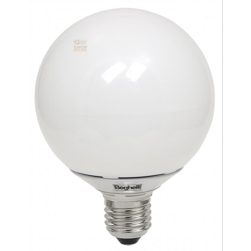 Beghelli lampada a led 56081 globo e27 w12 luce fredda opale for Lampada globo