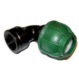 FEMALE ELBOW BLACK TUBE 40X1-1 / 4