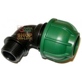 MALE ELBOW BLACK TUBE 20X3 / 4