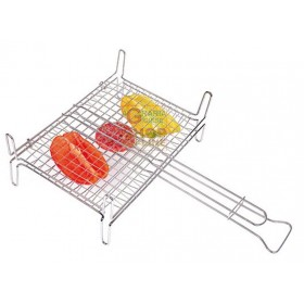 DOUBLE ROUNDED GRILL WITH FEET CM. 35 X 40