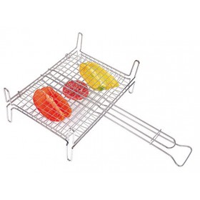 DOUBLE ROUNDED GRILL IN CHROMED STEEL WIRE WITH FEET CM. 40x45