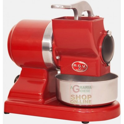 PROFESSIONAL RGV ELECTRIC GRATER IN STAINLESS STEEL MOD. MAXI VIP 8G RED WATT. 370