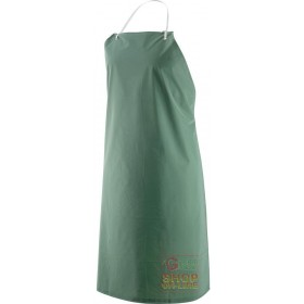 APRON PVC POLYESTER LIGHT CM 75X110 GREEN COLOR