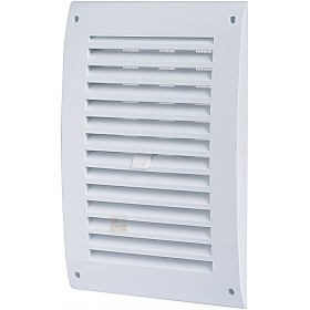 VENTILATION GRILLE IN ABS WITH CLOSURE AND NET MM. 190 X 190