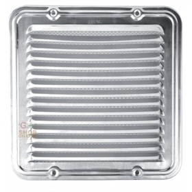 ALUMINUM VENTILATION GRID WITH NET CM. 14 X14