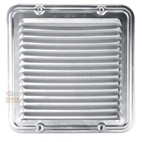 ALUMINUM VENTILATION GRID WITH NET CM. 23 X 23