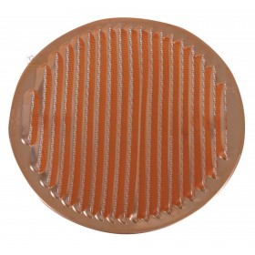 COPPER VENTILATION GRID WITH SPRINGS AND MOSQUITO PROTECTION