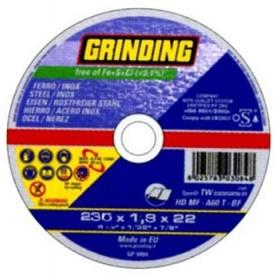 GRINDING DISCO PIANO PER FERRO D. 230X1,9