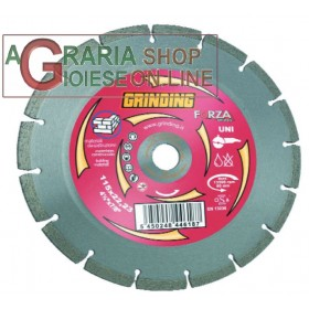 GRINDING FORZA DISCO DIAMANTATO SETTORI MM. 230