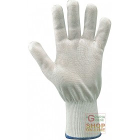 CUT-RESISTANT GLOVES IN DYNEEMA® FABRIC COLOR WHITE SIZE L PER