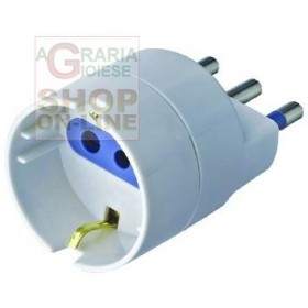 10A ADAPTER WITH T FOR SCHUKO SOCKET