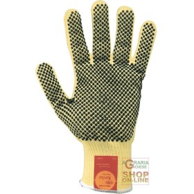 GLOVE IN FIBER WITH KEVLAR® BRAND MEDIUM PALM DOTTED IN PVC TG