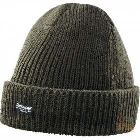 BEANIE IN WOOL YARN COVERED IN THINSULATE® BROWN COLOR ONE SIZE