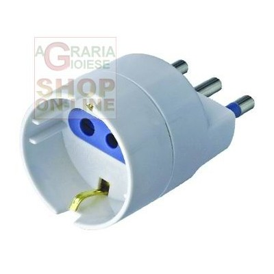 16A ADAPTER WITH T FOR SCHUKO SOCKET