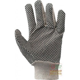8 OZ PVC DOTTED CANVAS GLOVE SIZE 8 5 9 5 10 11 WITH CARDBOARD AND BAR CODE