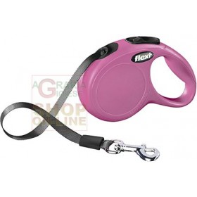 AUTOMATIC LEASH FLEXI NEW CLASSIC WITH PINK RIBBON KG. 12 MT. 3