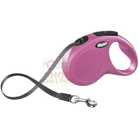 AUTOMATIC LEASH FLEXI NEW CLASSIC WITH PINK RIBBON KG. 50 MT. 5