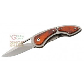 HERBERTZ FOLDING KNIFE WITH STAINLESS STEEL BLADE AND WOOD HANDLE CM. 18 MOD. 216011