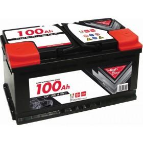 HIGH CAR BATTERY FOR CAR 100Ah SPUNTO 740A CM. 35,3x17,5x19h.
