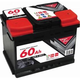 HIGH CAR BATTERY FOR CAR 60Ah SPUNTO 480A CM. 24,2x17,5x19h.