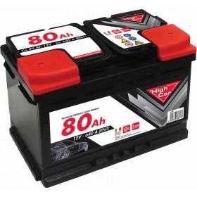 HIGH CAR BATTERY FOR CAR 80Ah SPUNTO 680A CM. 27,6x17,5x19h.